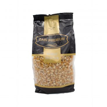 front picture of pop corn Zain products