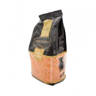 angled side picture of zain products Red lentil split